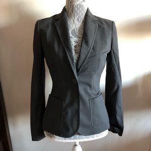 J Crew Blazer Black Jacket Career Business Size 0